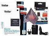 2 Pack Vivitar NB-11L / NB-11LH Vivitar Ultra High Capacity Rechargeable 1200 mAh Li-ion Batteries + AC/DC Vivitar Rapid Travel Charger + Microfiber Lens Cleaning