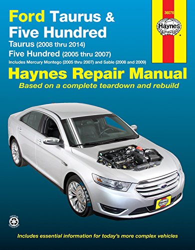Ford taurus 2008 thru 2014 five hundred 2005 thru 2007 ford taurus 2008 thru 2014 five hundred 2005 thru 2007 includes mercury montego 2005 thru 2007 and sable 2008 and 2009 haynes repair manual fandeluxe Images