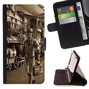 BullDog Case - FOR/Samsung Galaxy S5 V SM-G900 / - / Gentleman Spy - Tf Game Gaming /- Monedero de cuero de la PU Llevar cubierta de la caja con el ID Credit Card Slots Flip funda de cuer