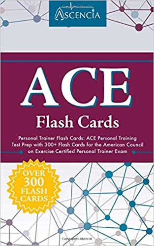 buy ace personal trainer flash cards: ace personal training test ...