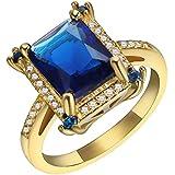 Fashion Women 925 Silver Topaz Gemstone Man Wedding Engagement Ring (9)