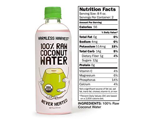 Amazon.com : Organic 100 Percent Raw Coconut Water : Harmless Harvest :  Grocery & Gourmet Food