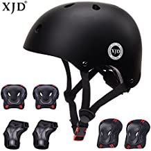 XJD Kids Helmet 3-8 Years Toddler Helmet Sports Protective Gear Set Knee Elbow Wrist Pads Roller Bicycle BMX Bike Skateboard Adjustable Helmets for Kids