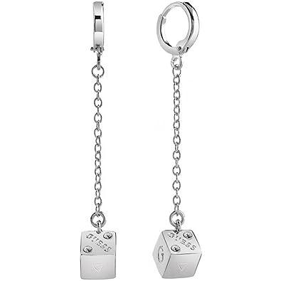 a6d871bec GUESS JEWELLERY ROLLING DICE Women's Earrings UBE83069: Guess: Amazon.co.uk:  Jewellery