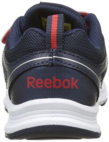 Reebok Almotio 3.0 2v - Zapatillas de Running Niños Blanco (White/Collegiate Navy/Primal Red 000)