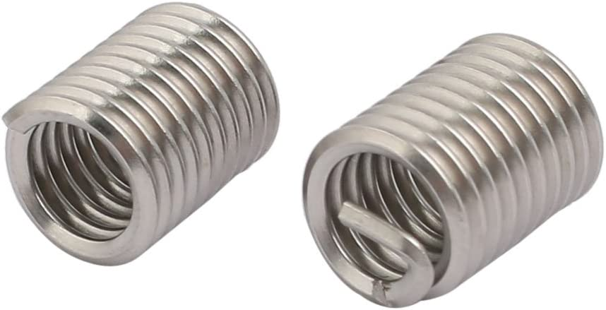 uxcell 5//16 inches-18x0.625 304 Stainless Steel Helical Coil Wire Thread Insert 25pcs