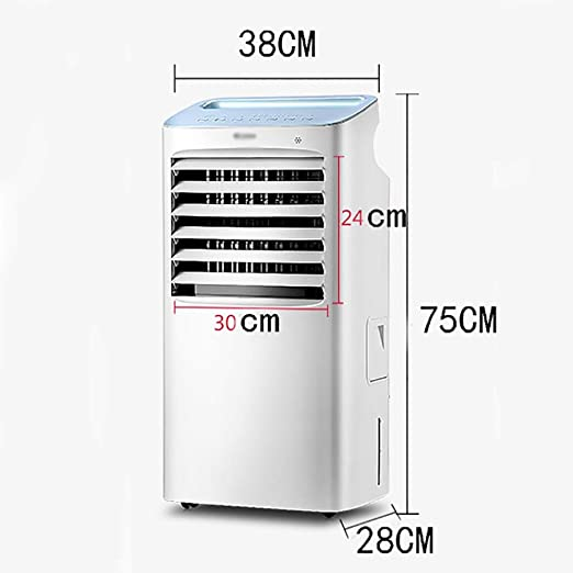 Ventilador electrico Enfriador evaporativo silencioso for el hogar, - enfriador de aire, deshumidificador, ventilador del purificador de aire y modo de suspensión, control remoto, velocidad de 4 venti: Amazon.es: Hogar