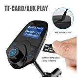 in-Car Radio Adapter MP3 Player Car Kit Wireless in-Car Bluetooth FM Transmitter Radio Adapter Car Kit with USB Car Charger Input 1.44 inch Display Micro-SD Card Slot