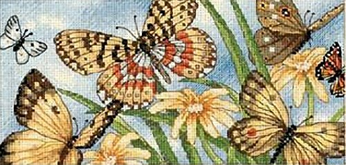 - Dimensions Needlecrafts Counted Cross Stitch, Butterfly Vignette