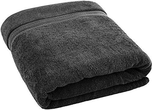 (35x70 Inches Jumbo Size Bath Towels, Ring Spun Cotton, Hotel & SPA Quality Bath Sheet, Extra Absorbency & Softness, 650 GSM for Beach, Pool, Shower by American Bath Towels, Dark Grey)