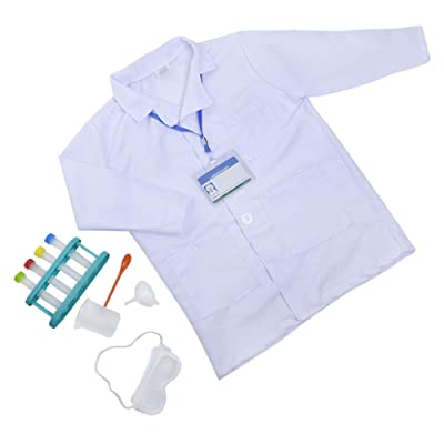 TOPTIE Scientist Role Play Set Dress Up Costumes Set for Kids Great Gift Idea: Clothing