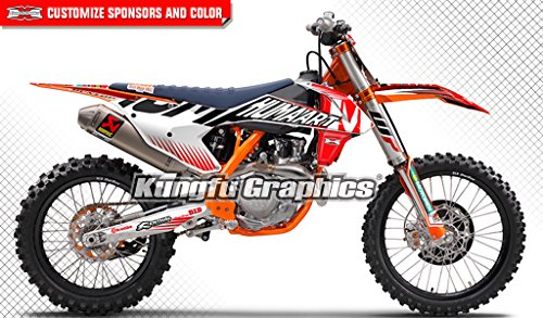 Kungfu Graphics WP Custom Decal Kit for 125 150 250 350 450 SX SXF SX-F XCF XC-F 2016 2017 2018 (2016 250sx is NOT included), Black White Red by Kungfu Graphics