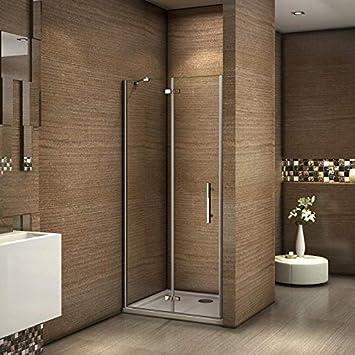 100x185cm Mamparas ducha pantalla de baño 6mm Easyclean vidrio ...