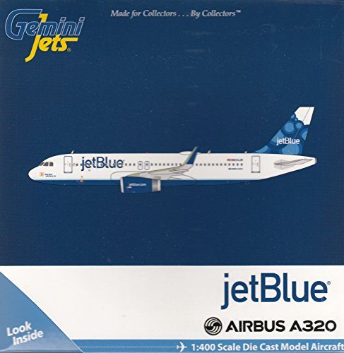 Gemini Jets Jet Blue A320 Blueberry Livery Airplane Model  1 400 Scale