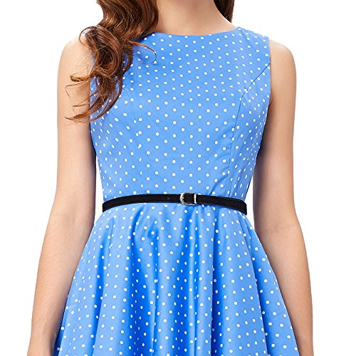 462f3c19cffd02 GRACE KARIN BoatNeck Sleeveless Vintage Tea Dress with Belt