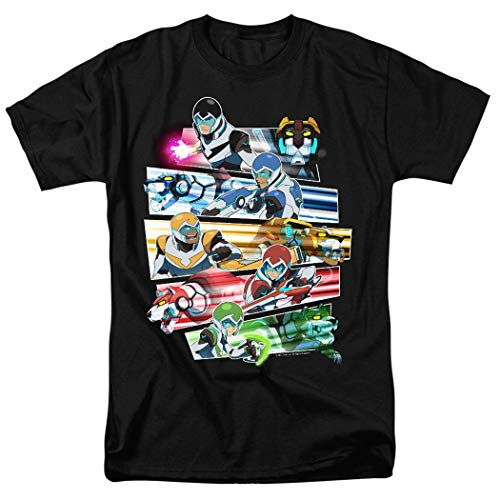 Voltron Legendary Defenders Paladins T Shirt & Stickers (Small) Black
