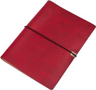 Xiangrun - Cuaderno de espiral de piel sintética con tapa
