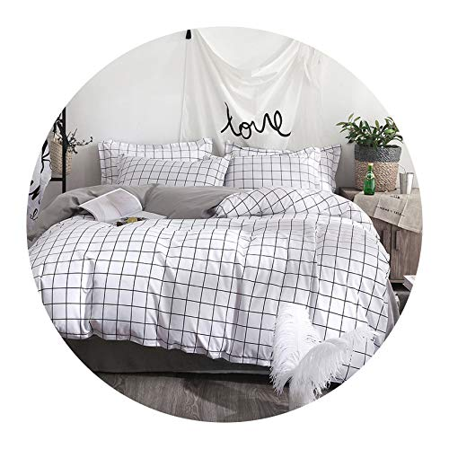 Demasia store-bedandbath Bedding Sets Wedding Home Textiles Bedding Pink Love Big Double Bed Cover Set for Girl, Twin Size (4pcs),Flat Bed Sheet (Full Face White Inkjet)