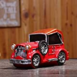 CFZHANG Piggy Bank Coin Money Box Bank Retro Vintage Car Model Decoration For Children Christmas Gift Toy, red