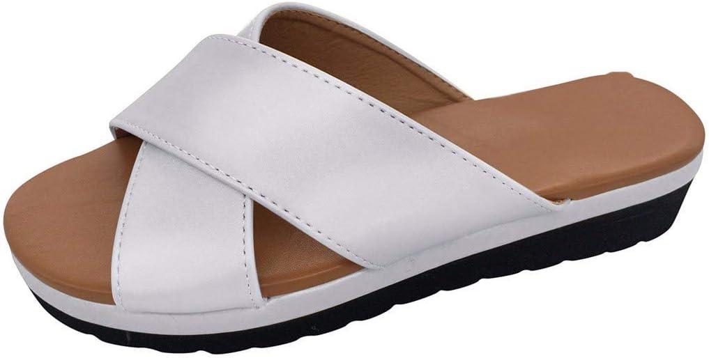 Sandalias para mujer, sandalias planas, zapatos de plataforma, para mujer, estilo retro, sandalias Peep Toe, tacón plano, zapatos de playa