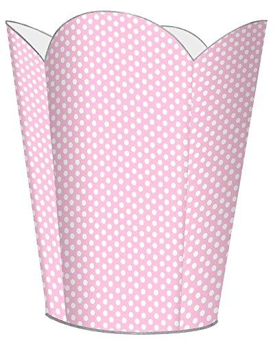 Pink Polka Dot Wastebasket - WB801 -Pink Polka Dot Wastepaper Basket