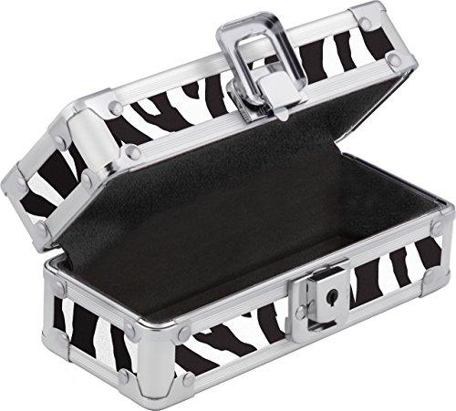 Vaultz Locking Sports Sunglass Case, Zebra - Zebra Oakley Sunglasses