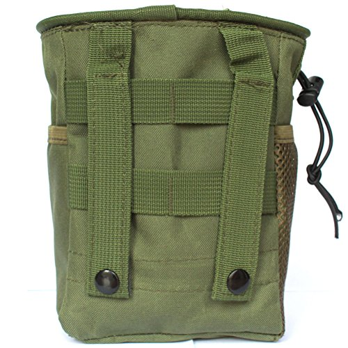 Review Tactical Molle drawstring Magazine Dump Pouch, Military Adjustable Belt Utility fanny hip holster Bag Outdoor Ammo Pouch (Olive drab)