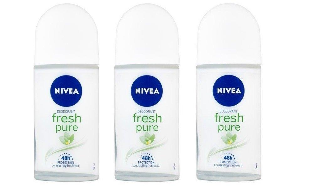 Nivea Pure & Natural Jasmin Scent 48 h Deodorant 3 Pack X 50 ml