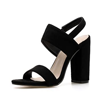 2c6711c5967 Amazon.com  Wide Width Wedges Sandals for Women Ladies Summer Two-Strap  Peep Toe Suede Shoes Slingback Sandals  Clothing