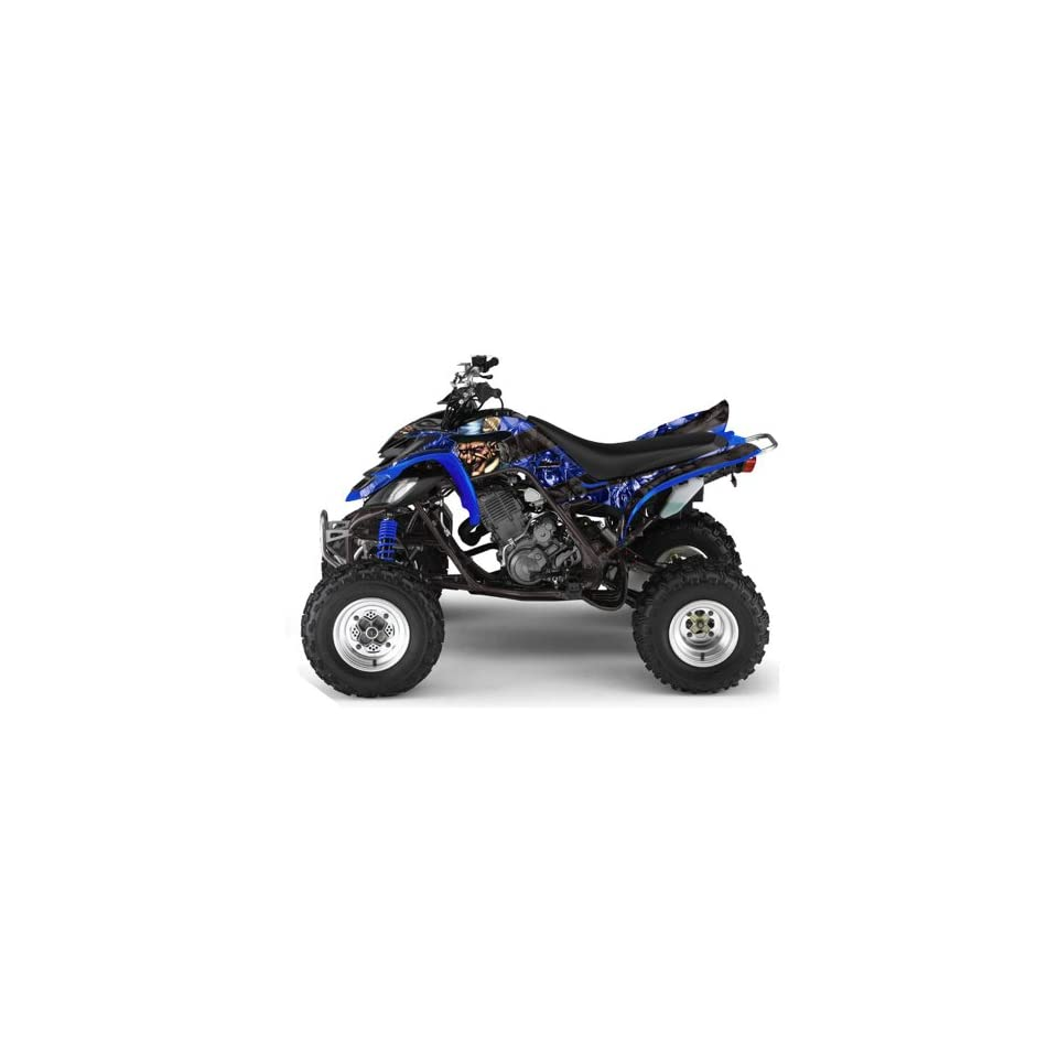 AMR Racing Yamaha Raptor 660 ATV Quad Graphic Kit   Madhatter Blue, Black