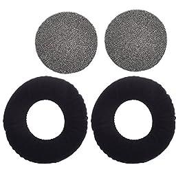 Cosmos 1 Pair Black Color Velvet Replacement Earpad Ear Pad Cushion for AKG K 240 Studio Headphones