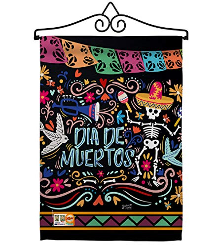 Angeleno Heritage GS137071-BO-02 Colorful Dia de Muertos Fall Halloween Impressions Decorative Vertical 13