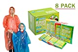 Kyпить Poncho Family Pack - Emergency Disposable Rain Ponchos- Perfect for Travel, Theme Parks, Hiking, Fishing Includes- 4 adult (Men and Women) and 4 child ponchos with hood and Sleeve (Extra Thick) на Amazon.com