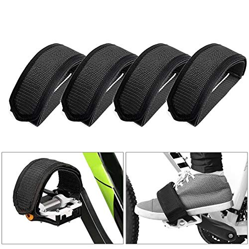 Groupcow 2 Pair Bicycle Pedal Straps Bike Feet Strap Tape for Fixed Gear Bike Black