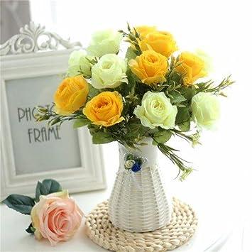 LOF-fei Künstliche Blume Motte Orchid Pot Home Decoration Seiden ...