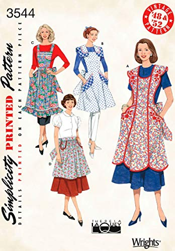 Simplicity Sewing Pattern 3544 Aprons, A (S-M-L) (Patterns Vintage Apron Sewing)