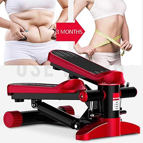 LJYLF Mini Fitness Hydraulic Stepper, Men and Women Stepper Cardio Exercise Trainer, Monitor and Resistance Bands…