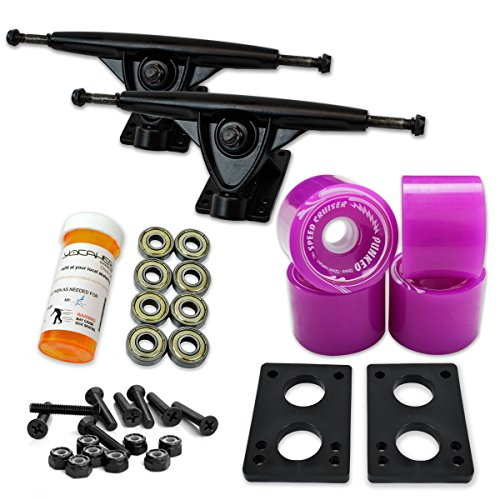 - Yocaher LONGBOARD Skateboard TRUCKS COMBO set w/ 71mm WHEELS + 9.675