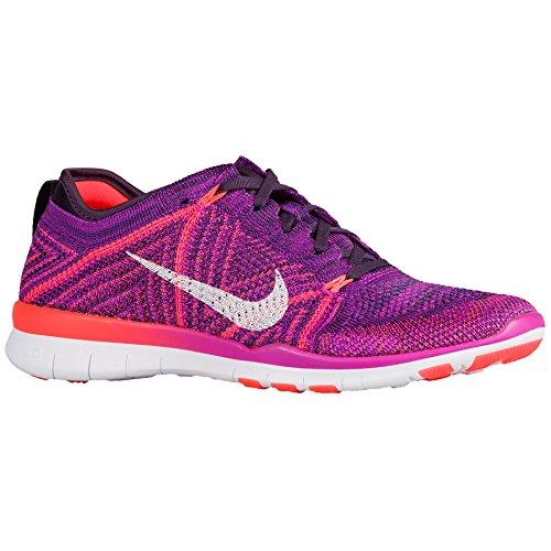 Nike Womens Gratis Forvandle Flyknit Treningssko Hyper Fiolett Hvit Total Crimson Lilla