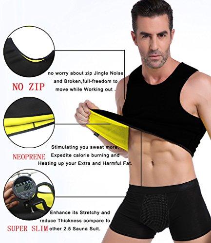 e2b05847d3b Men Tummy Control Hot Sweat Vest Slimming Sauna Shirt Neoprene Workout  Weight Loss Sauna Vest