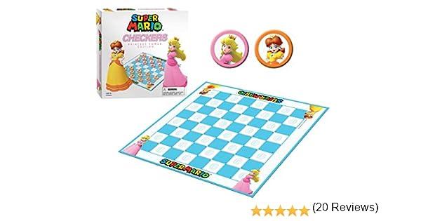 Super Mario Boardgame Checkers Princess Power USAopoly Giochi Tavolo Accessori: Amazon.es: Juguetes y juegos