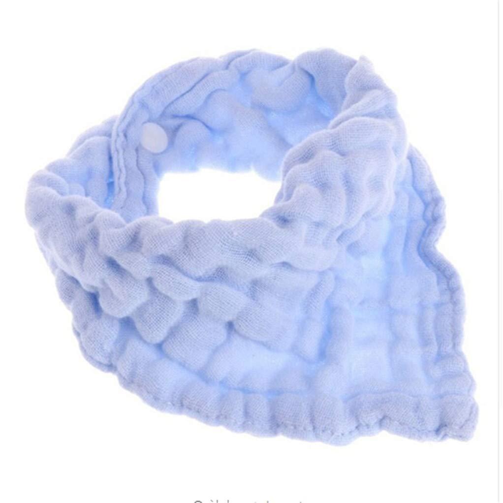 SEVENHOPE Bébé simple design doux mélange de coton gaze bavoirs bavoirs chiffons serviette de salive alimentation triangle bandana serviettes néonatales (rose) DABO
