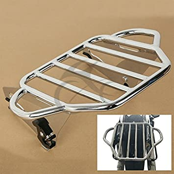 TCMT Detachable Adjustable Two Up Tour Pak Luggage Rack Mounting Fits For Harley Touring Electra Glide Road King Street 2009 2010 2011 2012 2013 2014 2015 2016 2017 2018 2019