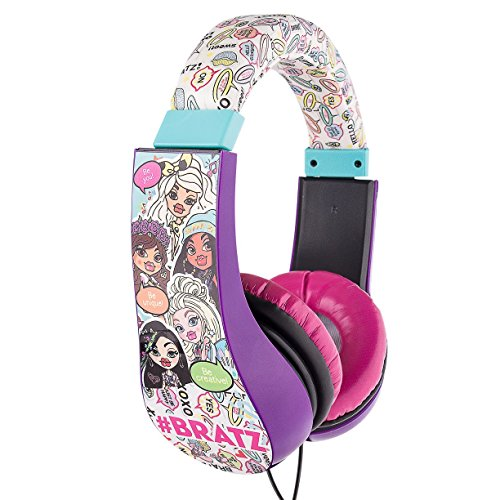 Bratz HP2-04034 Kid Safe Over the Ear Headphones w/ Volume Limiter, by Sakar