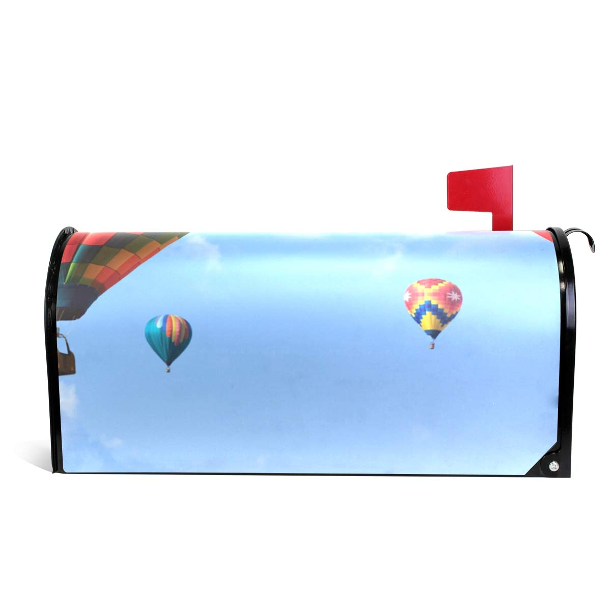 DEYYA Hot Air Balloon Magnetic Mailbox Covers and Wraps Personalized Decorative Standard Size 64.7x52.8cm
