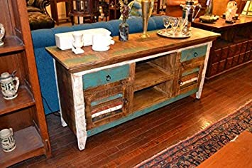 Distressed Reclaimed Solid Wood Credenza Tv Stand