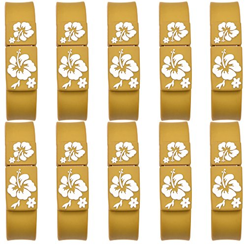 Uflatek 10pcs 1 GB Memory Sticks 2.0 Bracelet USB Flash Drives Wrist Band Thumb Drives Brown Pen Drive High Speed U Disk For Birthday Christmas Wedding Gifts