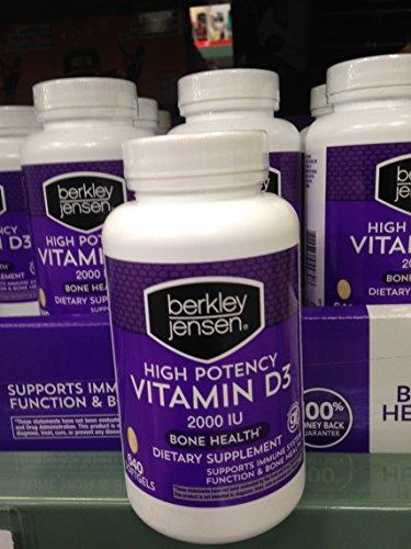 Price comparison product image Berkley Jensen Vitamin D3 640 ct (pack of 6)