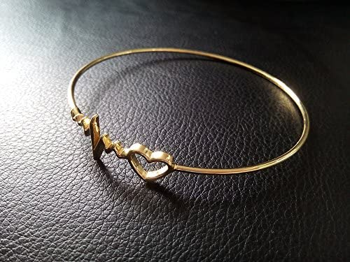 NOUMANDA Health Care Tiny Love Heart Heartbeart Line Y Lariat Necklace Fashion Gift Doctors Nurse