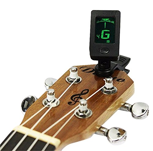 Futaba-Chromatic-Clip-On-Digital-Tuner-For-Acoustic-Electric-Guitar-Green